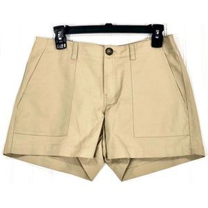 Nordstrom Signature beige patch pocket shorts 8333